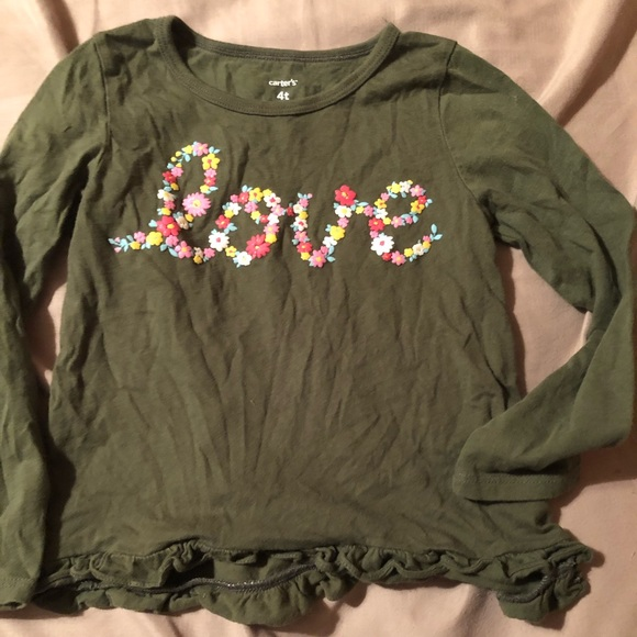 Carter's Other - Toddler girls size 4T love shirt